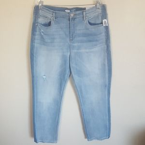 NWT Old Navy The Power Jean Straight Ankle Jeans
